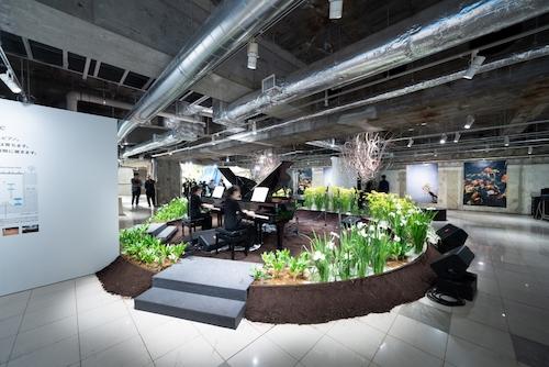 銀座ソニーパークのストリートピアノ